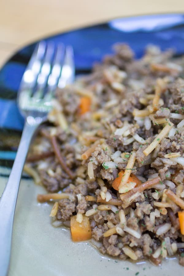 Easy and simple homemade beef rice-a-roni recipe. Skip the box and make it yourself!
