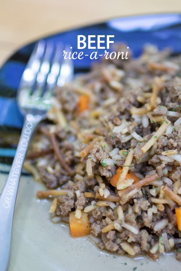Beef Rice-a-Roni