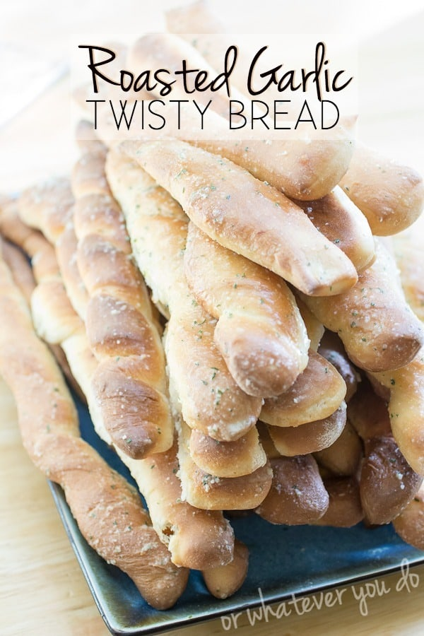 Roasted Garlic Parmesan Twisty Bread - if you like this, follow me for more great food/recipe pins at http://www.pinterest.com/orwhateveryoudo/