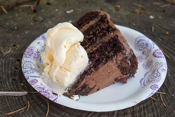 Quadruple Chocolate Birthday Cake