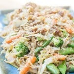 Sesame Vegetables with Rice Noodles