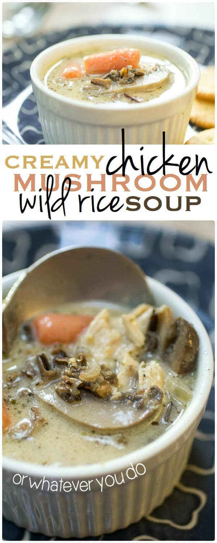 NEW Creamy Chicken Mushroom Wild Rice Soup