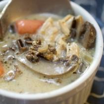 Creamy Chicken Mushroom Wild Rice Soup