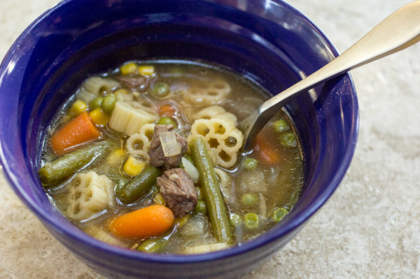 Slow Cooker Vegetable Beef Noodle-8