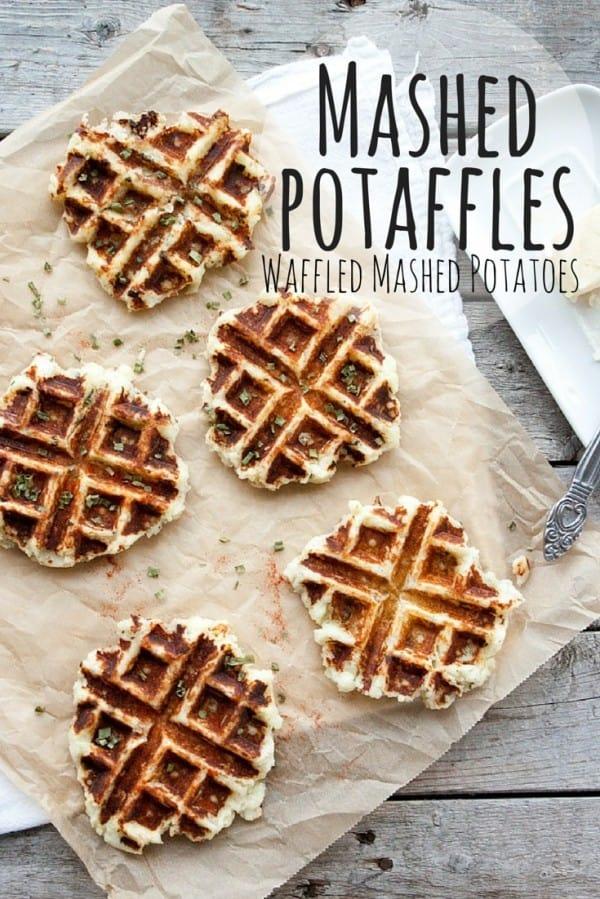 Mashed Potaffles - leftover mashed potato recipe idea