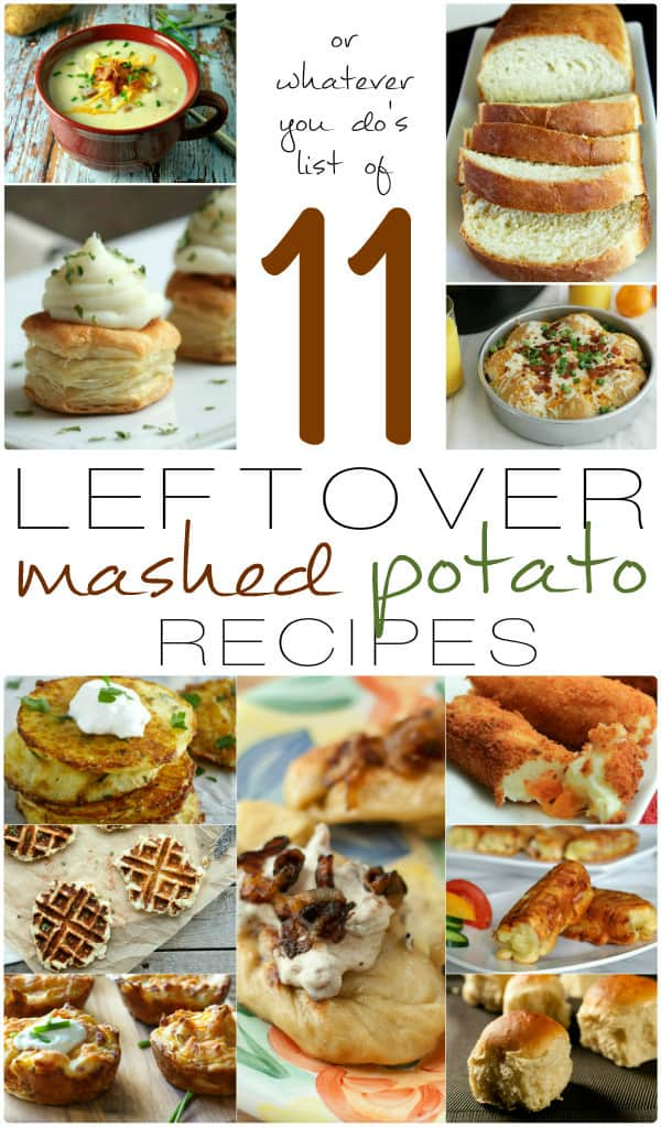 Do you have a ton of leftover mashed potatoes? Here's some great ways to use them!