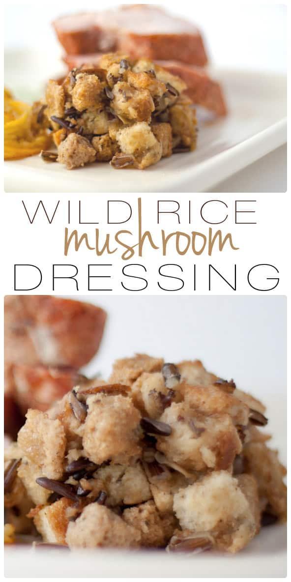 Wild Rice Mushroom Dressing
