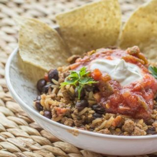 Beef and Bean Taco Rice Skillet-3