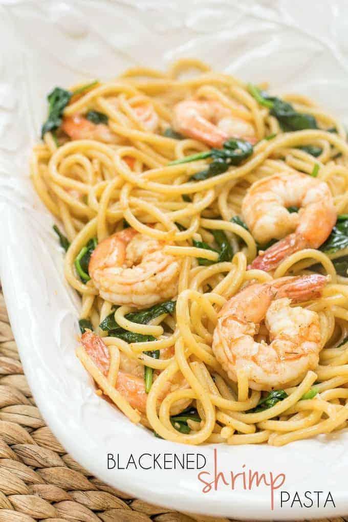 Blackened Shrimp Pasta