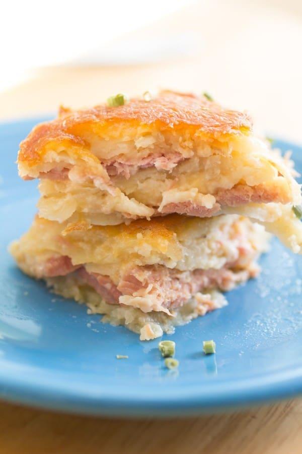 Cheesy Scalloped Potato and Ham Casserole-3