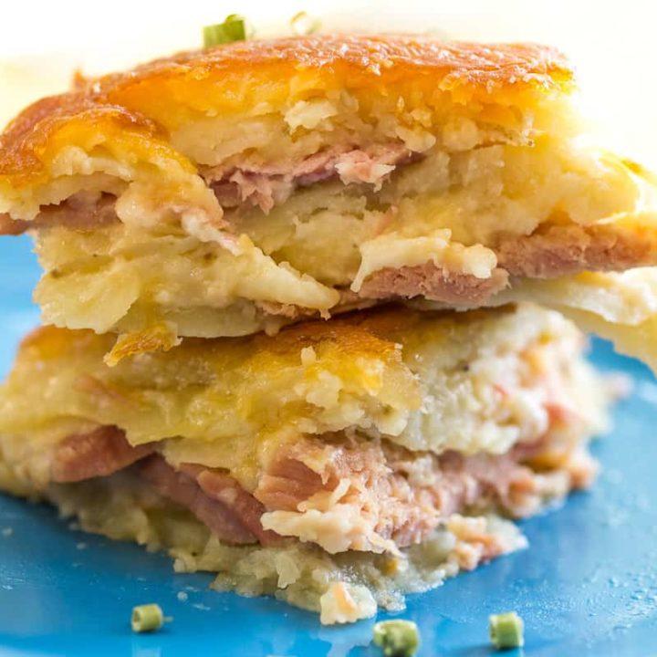 Cheesy Scalloped Potato and Ham Casserole