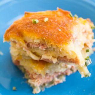 Ham and Cheese Scalloped Potato Casserole