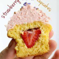 Strawberry Stuffed Cupcakes