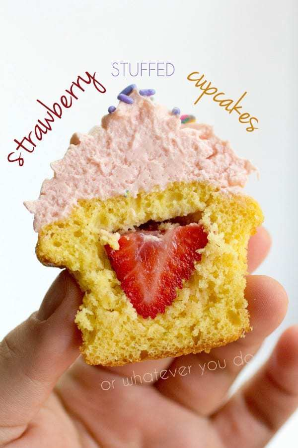 Strawberry Stuffed Cupcakes Pinterest