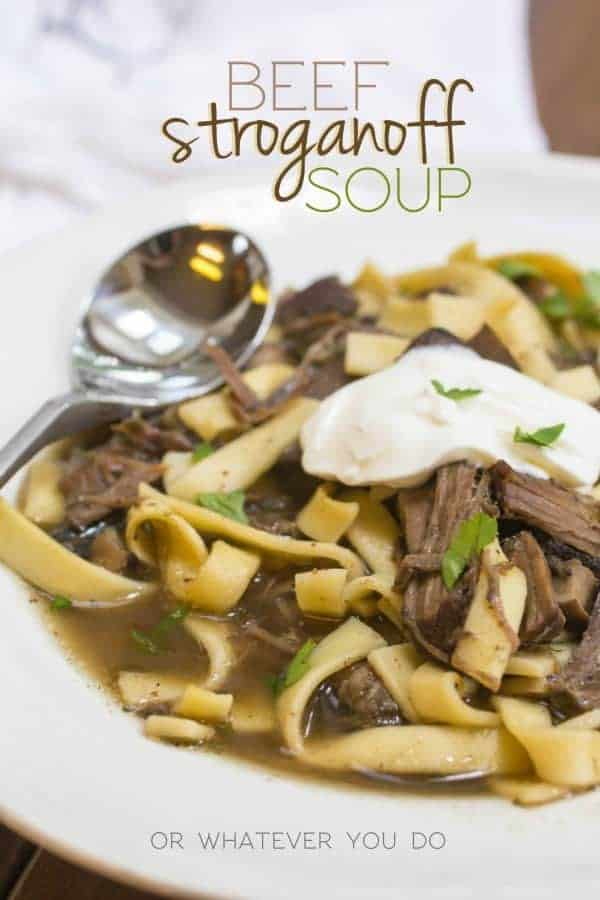 Beef Stroganoff Soup is super simple, filling, and a hearty comfort ...