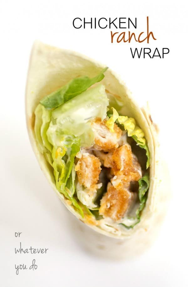 Easy Chicken Ranch Wrap