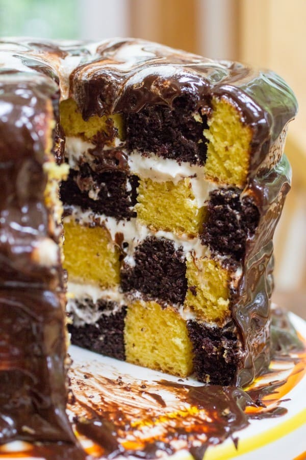 Checkerboard Marble Cake Or Whatever You Do