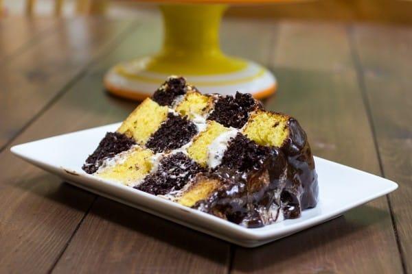 Fauxstess Checkerboard Marble Cake