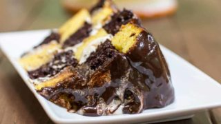 Checkerboard Marble Cake