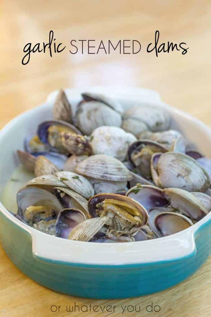 Garlic Steamed Clams