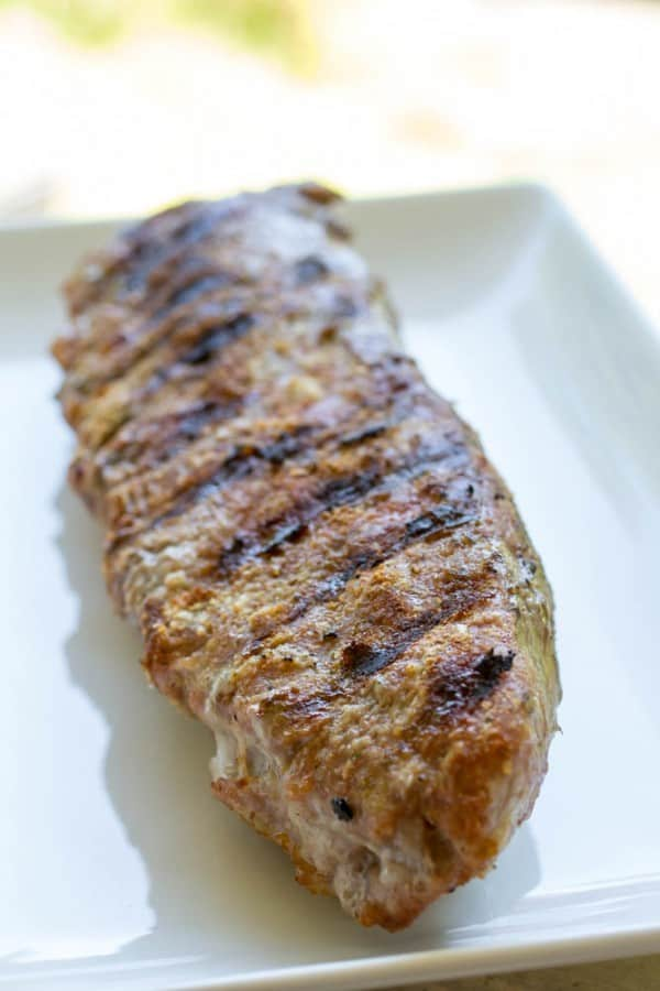 Grilled Pork Tenderloin with fresh herb sauce