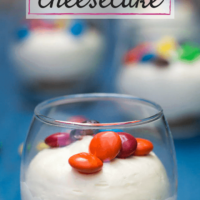 No-Bake M&M Cheesecake