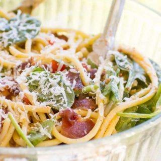 BLT Bucatini Pasta Salad