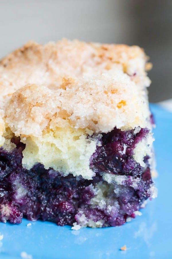 Blueberry Lemon Cornmeal Butter Cake-8