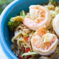 Shrimp with Vegetables and Rice Noodles
