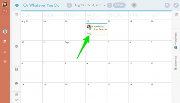 Organize Your Sponsored Post Schedule
