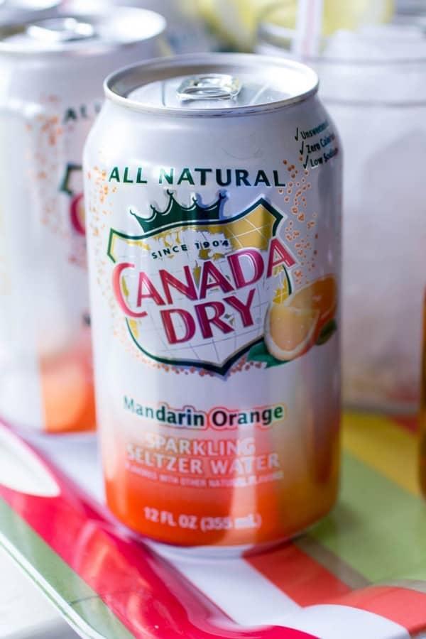 Mandarin Orange Cream Soda Cocktail