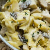 Skillet Tortellini with Mushroom Cream Sauce