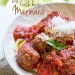 Tortellini and Mini Meatballs with Basil Marinara