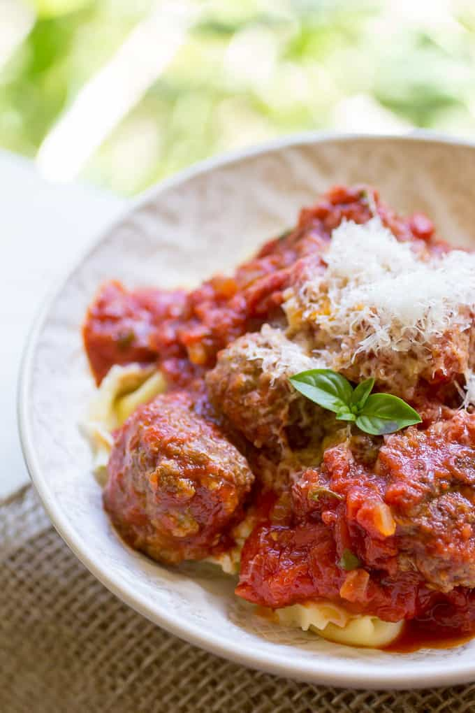 Mini Meatballs with Fresh Herb Marinara