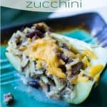 Flavorful and unique stuffed zucchini dinner filled with orzo, wild rice, and beef.