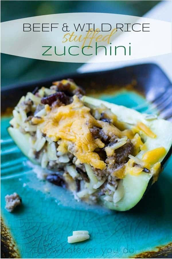 BEEF & WILD RICE Stuffed Zucchini