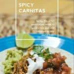Spicy Carnitas done in your CROCK POT using Costco's Sirloin Pork Roasts.