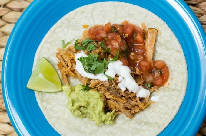 Spicy Carnitas done in your CROCK POT using Costco's Sirloin Pork Roasts.
