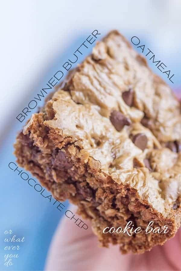 Chewy Oatmeal Chocolate Cookie Bars
