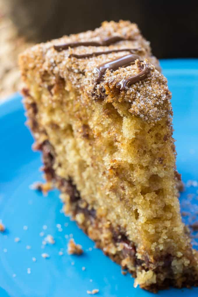 Chocolate Sour Cream Coffee Cake is going to be your new favorite coffee cake. Its sweet enough for dessert, but totally appropriate for brunch too. Or so I tell myself.