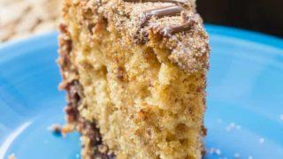 Chocolate Stuffed Sour Cream Coffee Cake
