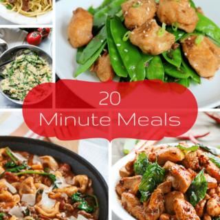 20 Minute Dinner Ideas