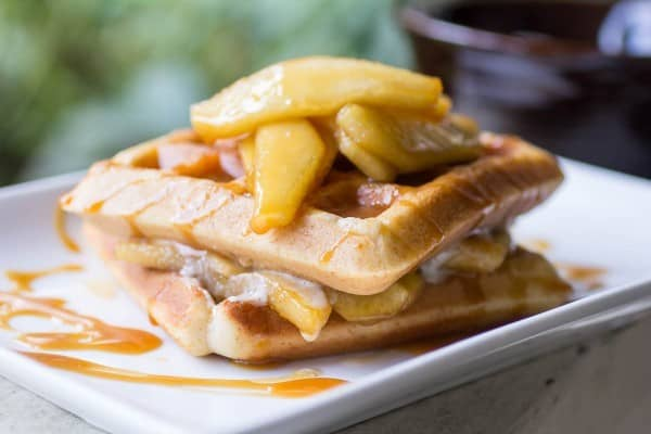Apple Pie Spiced Waffles