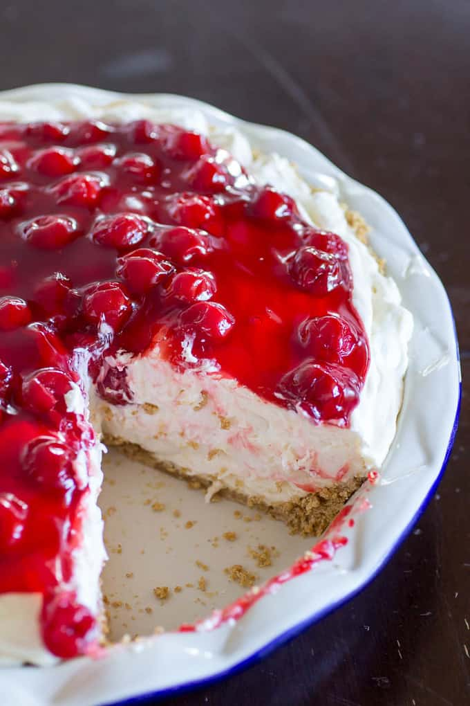 Cherry Cheesecake Fluff Pie