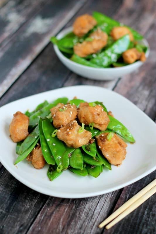 Ginger Chicken Snow Peas