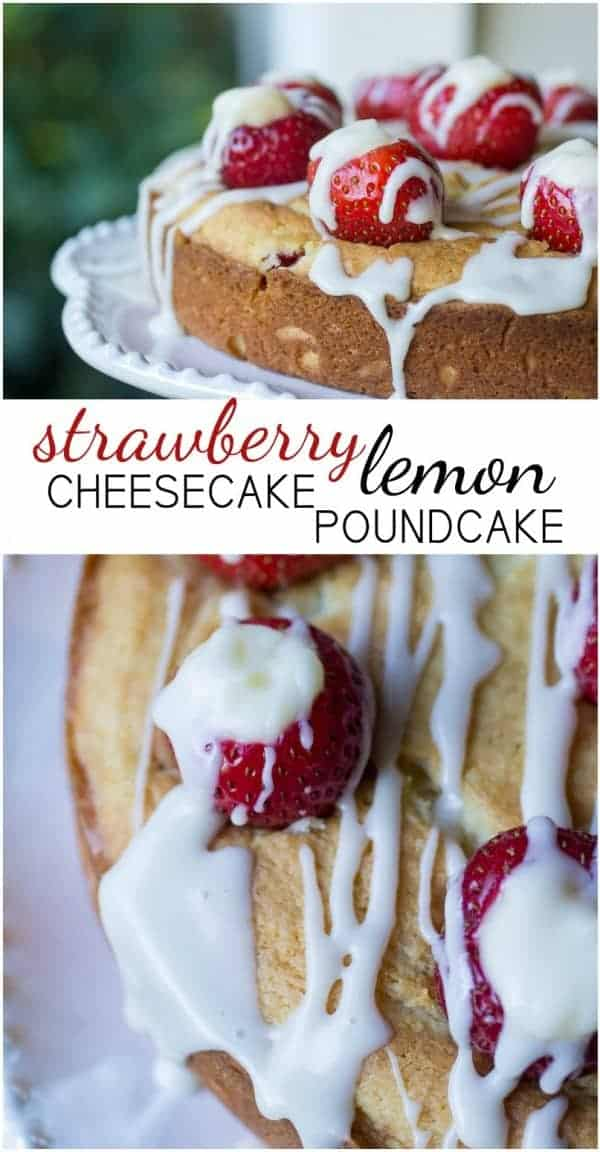 This Strawberry Lemon Cheesecake Poundcake is easy and delicious! You'd never guess it starts with a box. Make this impressive dessert and bring back a hint of summer to your table!