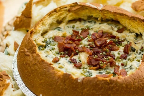 King's Hawaiian Bacon Spinach Artichoke Asiago Dip