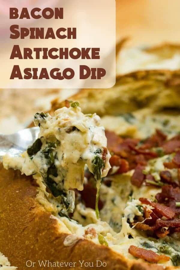 King's Hawaiian Bacon Spinach Artichoke Asiago Dip