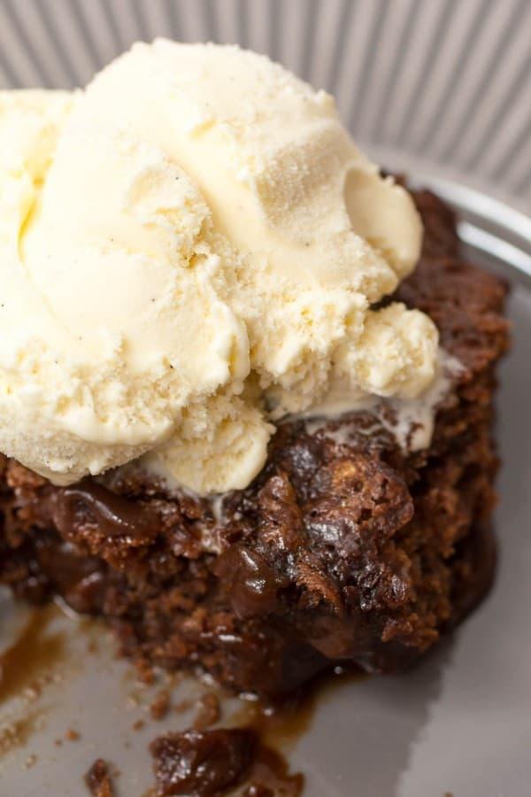 Super Chocolate Hot Fudge Brownie Cake