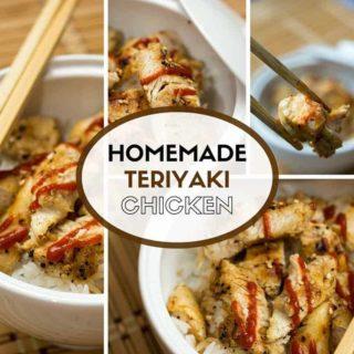 Super Simple Chicken Teriyaki Recipe with homemade sauce!